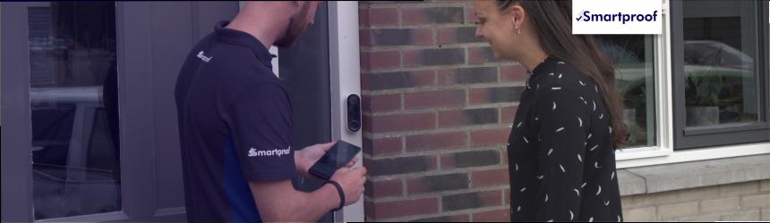Slimme video deurbel installatie