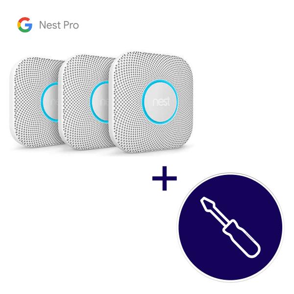 Nest Protect 3 pack inclusief installatie